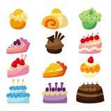 蛋糕动画片 库存图片