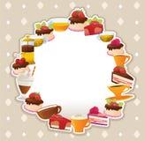 蛋糕卡片 免版税库存照片