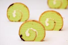 蛋糕卷瑞士 免版税库存照片