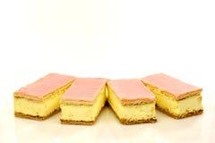 蛋糕叫荷兰语tompouce 免版税库存图片