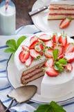 蛋糕可口草莓 免版税图库摄影