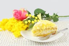 蛋糕含羞草 库存照片