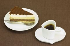 蛋糕和咖啡 库存照片