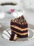 蛋糕和咖啡 图库摄影