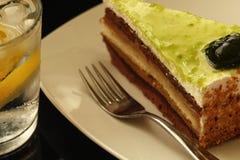 蛋糕和苏打 库存图片