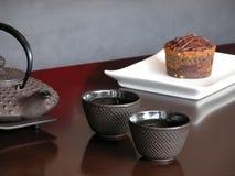 蛋糕和茶 免版税库存照片