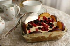 蛋糕和茶 免版税库存图片