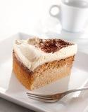 蛋糕咖啡火山 免版税库存照片