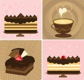 蛋糕咖啡 免版税库存图片