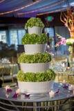 蛋糕四有排列的婚礼 库存照片