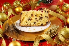 蛋糕圣诞节意大利节日糕点 免版税库存图片