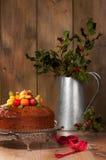 蛋糕圣诞节果子 库存照片