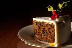 蛋糕圣诞节片式 免版税库存图片