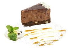 蛋糕在白色的演播室射击 免版税图库摄影