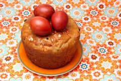 蛋糕复活节彩蛋 免版税库存图片