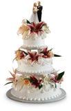 蛋糕奢侈婚礼 免版税库存照片