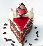 蛋糕奶油色果冻草莓 免版税库存照片