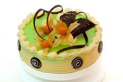 蛋糕奶油色绿色 库存图片