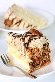 蛋糕奶油色胡桃 库存图片