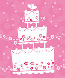 蛋糕婚礼 免版税库存图片