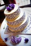 蛋糕婚礼yum 免版税库存图片