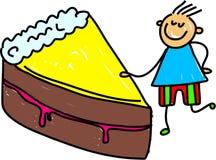 蛋糕孩子 库存例证