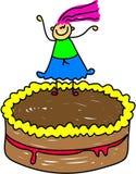 蛋糕孩子 免版税库存照片