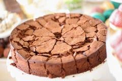 蛋糕巧克力关闭 免版税图库摄影