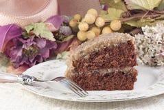 蛋糕巧克力德国人片式 免版税库存图片