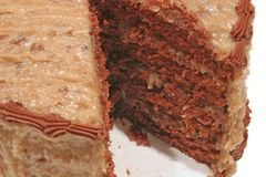 蛋糕巧克力德语 免版税库存图片
