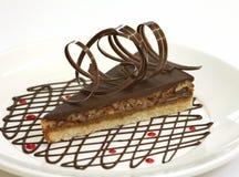 蛋糕巧克力核桃 免版税库存照片