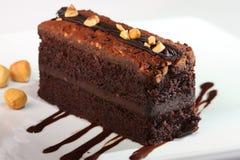 蛋糕巧克力榛子 免版税库存照片
