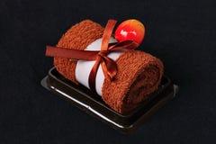 蛋糕巧克力毛巾 库存照片