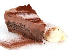 蛋糕巧克力沫丝淋 免版税库存照片