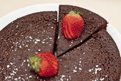 蛋糕巧克力泥 免版税图库摄影