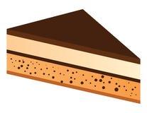 蛋糕巧克力片式 库存例证