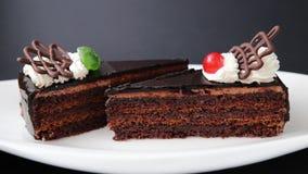 蛋糕巧克力牌照白色 影视素材