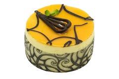 蛋糕巧克力芒果奶油甜点 免版税库存照片