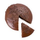 蛋糕巧克力软糖切了 库存照片