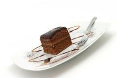 蛋糕巧克力 免版税库存照片