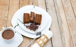 蛋糕巧克力coffe 免版税库存图片