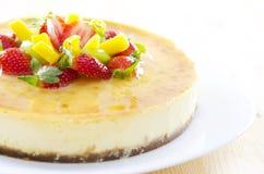 蛋糕干酪果子激情 图库摄影