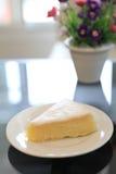 蛋糕干酪柠檬片式 库存图片