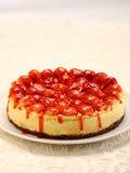 蛋糕干酪草莓 免版税库存照片