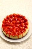 蛋糕干酪草莓 库存照片