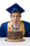 蛋糕庆祝毕业 免版税库存图片