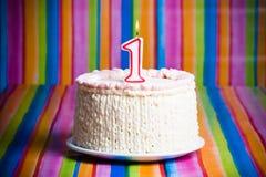 蛋糕庆祝第一 库存照片