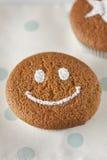 蛋糕微笑。 库存图片