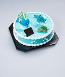 蛋糕或生日蛋糕在背景 库存照片