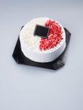 蛋糕或生日蛋糕在背景 库存图片